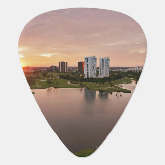 Country Club at sunset, Aventura, Florida Plectrum