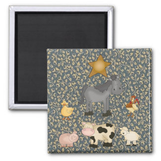 Country Collection Farm Animals Fridge Magnet