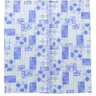 Country Cornflower Blue Shower Curtain