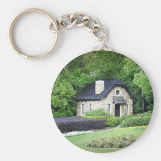 Country Cottage Key Ring