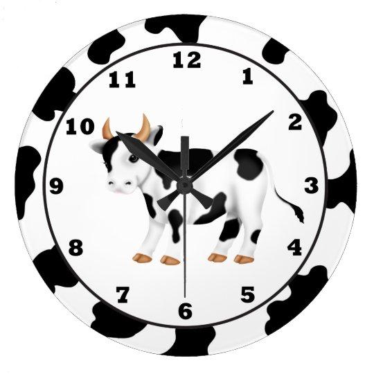 Country Cow Cartoon Clock