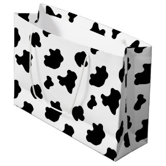 Country Cow pattern larg gift bag