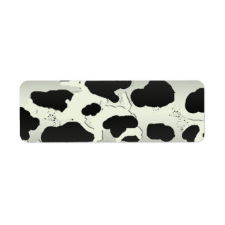 Country Cow Spot Return Address Label