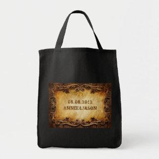 Country Cowboy Boots Western Wedding Favor Canvas Bag