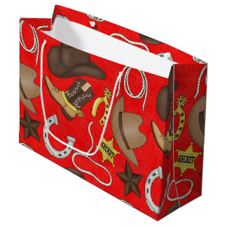 Country Cowboy Western large gift bag