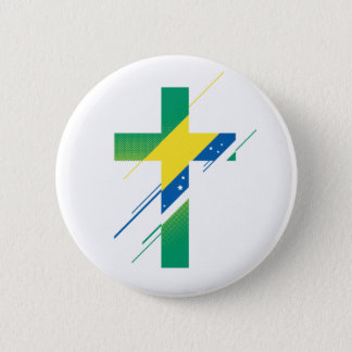 Country & Creed - Brazil 6 Cm Round Badge