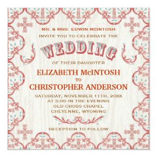 Country Cross Wedding Invitation