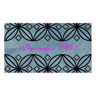 Country Cute Pink Denim Modern Floral Girly Lace Pack Of Standard Business Cards