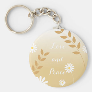 Country Daisies button keychain
