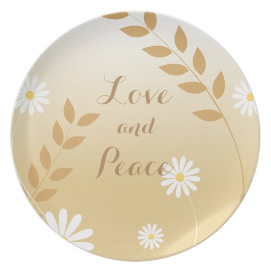 Country Daisies melamine plate