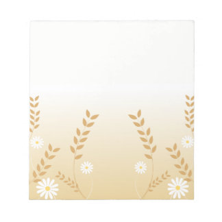 Country Daisies notepad