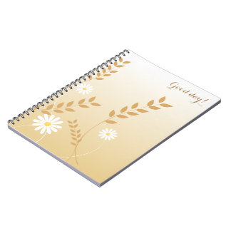 Country Daisies notepad Spiral Notebook