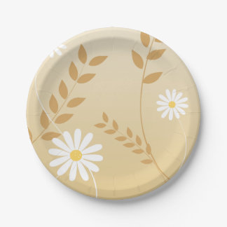 Country Daisies paper plate