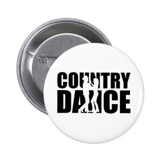 Country dance 6 cm round badge