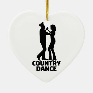 Country dance christmas ornament