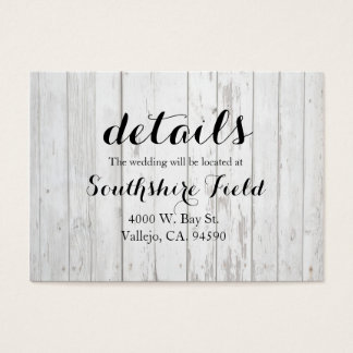 Country Dandelion Details Card - Wedding - South