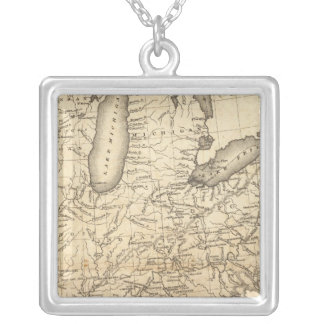 Country drained by the Mississippi Eastern Section Silver Plated Necklace