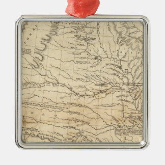 Country drained by the Mississippi Western Section Silver-Colored Square Decoration