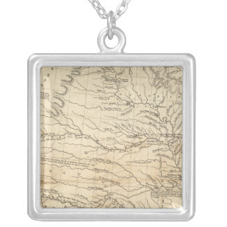 Country drained by the Mississippi Western Section Silver Plated Necklace