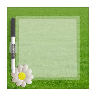 COUNTRY DRYERASEBOARD, DAISY on FRESH GREEN GRASS Dry Erase Board