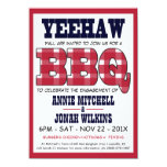 Country Engagement Party Picnic BBQ Invitation