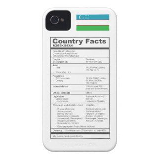 Country Facts UZBEKISTAN iPhone 4 Case-Mate Case