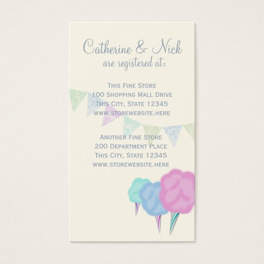 Country Fair and Cotton Candy Registry Card