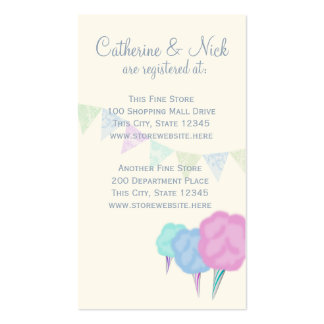 Country Fair and Cotton Candy Registry Card Pack Of Standard Business Cards