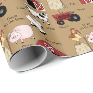 Country Farm fun wrapping paper