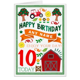 Country Farm Personalised Birthday Card