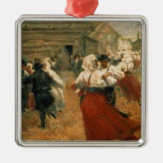 Country Festival, 1890s Silver-Colored Square Decoration