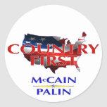 Country First stickers McCain Palin