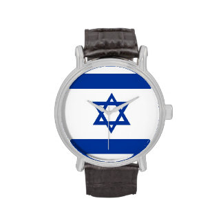 country flag israel jew david star watches