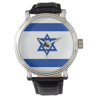 country flag israel jew david star watch