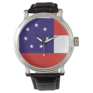 country flag region state united america georgia wrist watches