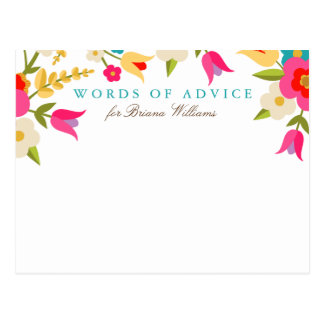 Country Floral Grad Advice Cards