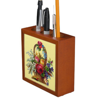 Country Floral Pencil Holder