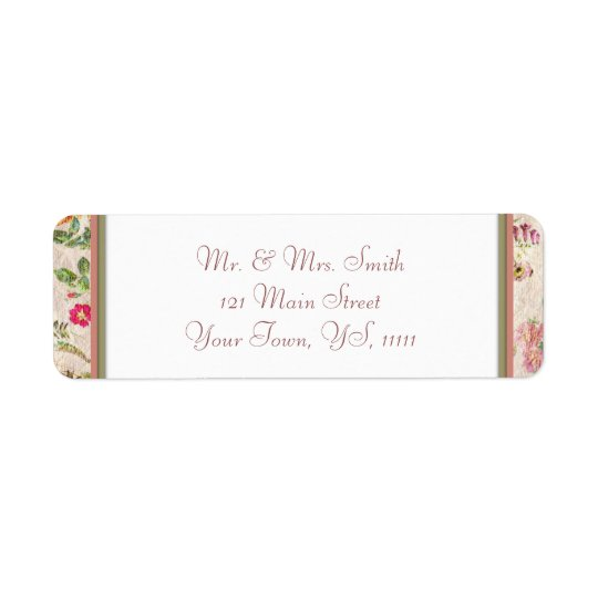 Country Floral Return Address