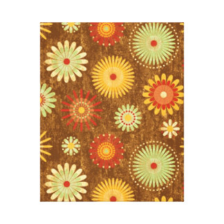Country Flower pattern Gallery Wrapped Canvas