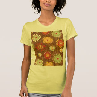 Country Flower pattern Tee Shirt