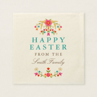 Country Flowers Easter Napkins Disposable Serviette