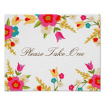 Country Flowers Party Favour Poster