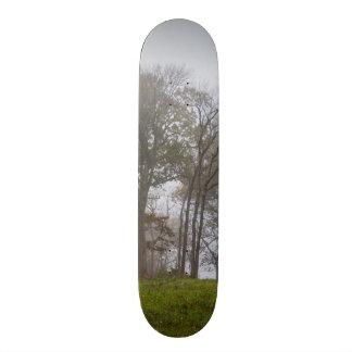 Country Foggy Fall Morning Skateboards