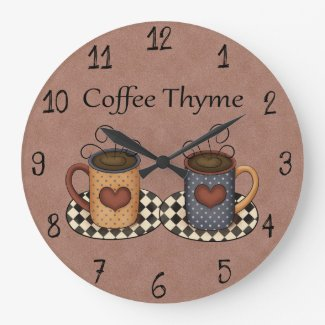 Country Folk Art Kitchen Coffee Design