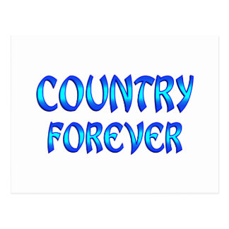 Country Forever Postcard