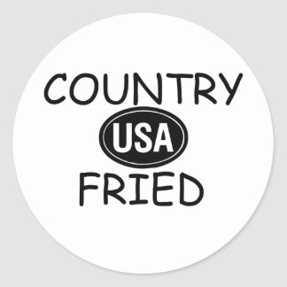 Country Fried Round Sticker