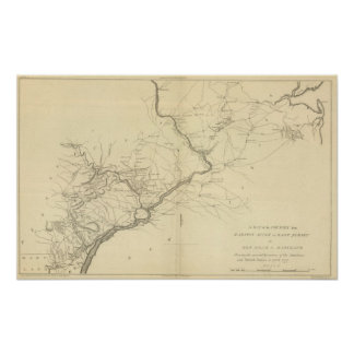 Country from Rariton River in East Jersey Poster