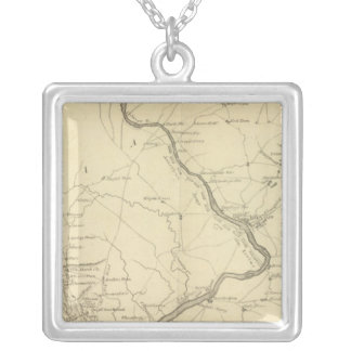 Country from Rariton River in East Jersey Silver Plated Necklace