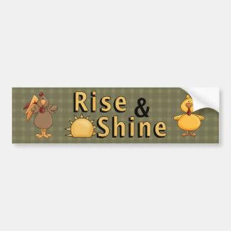 Country Fun Rise & Shine Rooster  Bumper Sticker