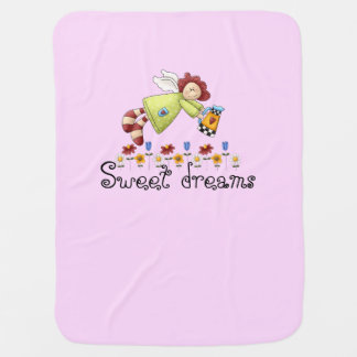 Country Garden Angel Pink Girl's Baby Blanket